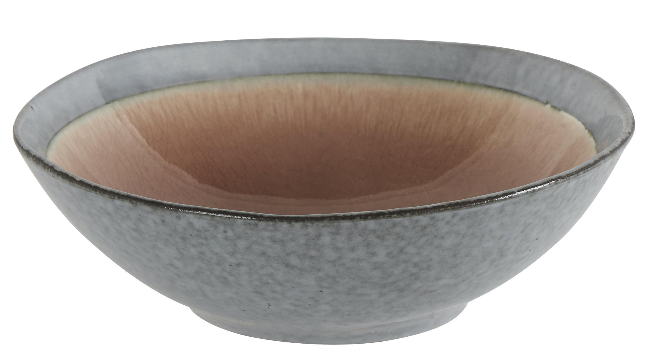 Assiette plate en céramique rose Athezza