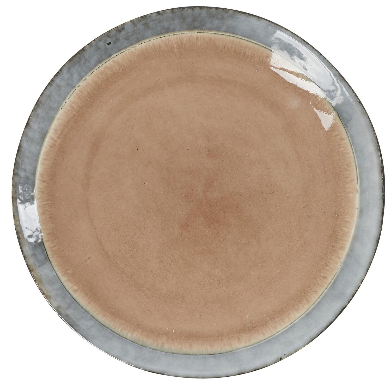 Assiette à dessert rose Athezza