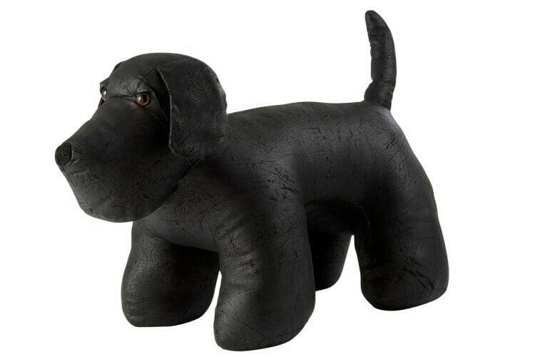 Grand chien textile noir