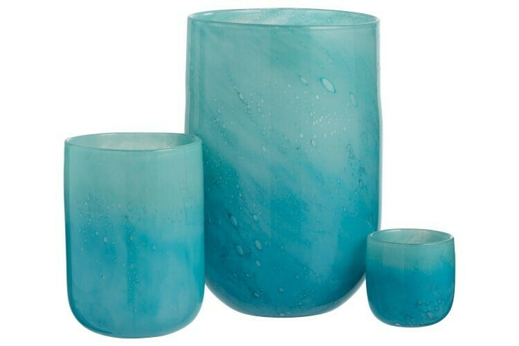 Grand vase turquoise