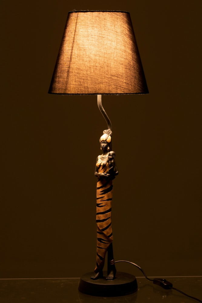 Lampe femme africaine J-Line