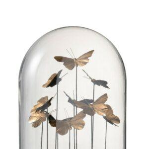 Cloche en verre papillons J-line