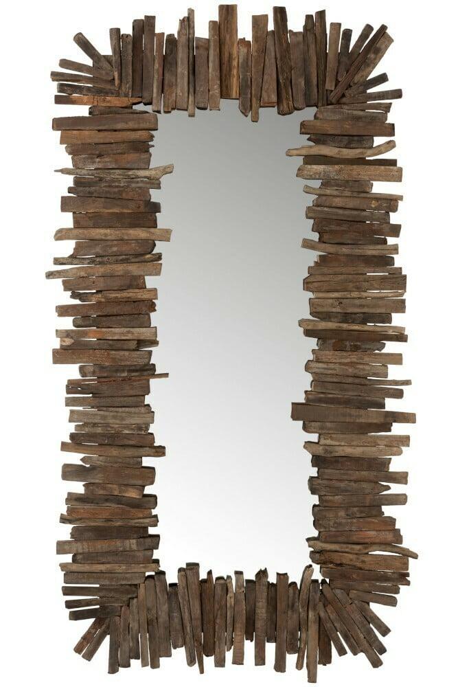 Miroir en bois recyclé J-Line