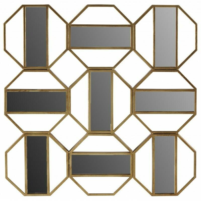 Miroir Florence doré
